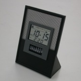 see-through LCD perpetual calendar clock with alarm, CL203