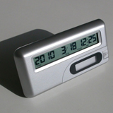 special event day countdown clock, silver color, MC2110