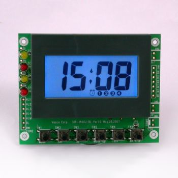 Multi-Alarm Clock Module with Blue Backlight