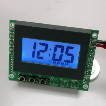 Simplified Perpetual Alarm LCD Clock Module with Blue Backlight