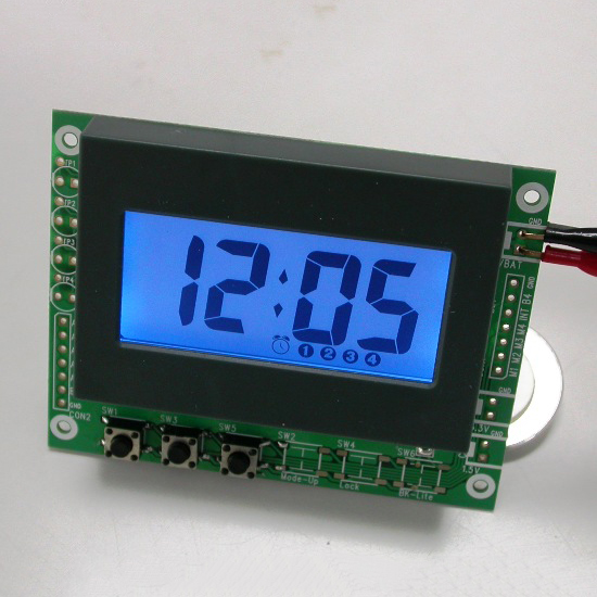 LCD Clock Module with Blue Backlight