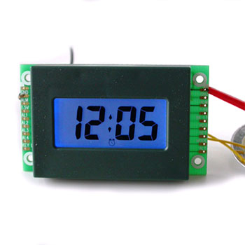 LCD Perpetual Alarm Clock Module with LED Backlight in Blue Color