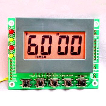 99 hour 59 minutes Countdown/Up Timer Module with Amber Color LED Back-light